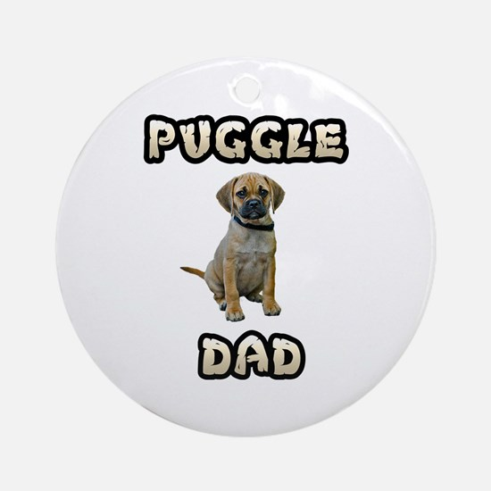 Puggle Dad Ornament (Round)