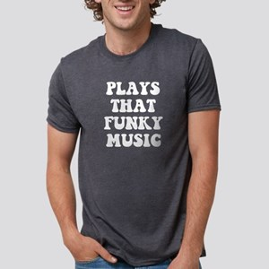 Plays Music Mens Tri-blend T-Shirt