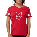Peace Heart Womens Football Shirt