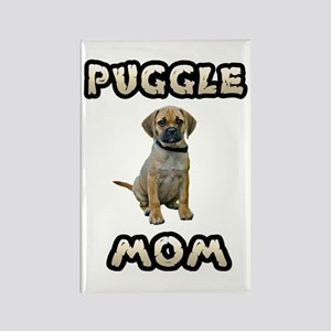 Puggle Mom Rectangle Magnet
