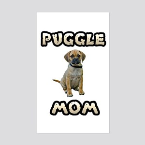 Puggle Mom Sticker (Rectangle)