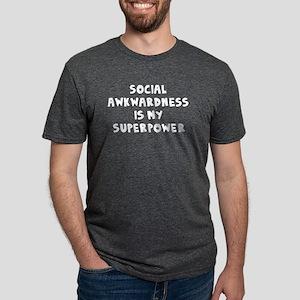 Social Awkward Mens Tri-blend T-Shirt