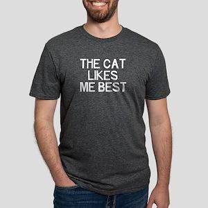 The Cat Likes Mens Tri-blend T-Shirt