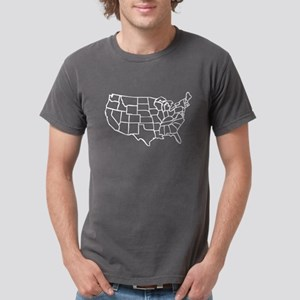 US Map Mens Comfort Colors® Shirt