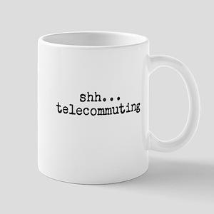 shh...telecommuting Mugs