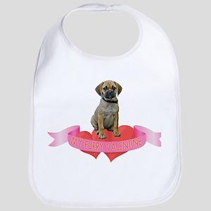 Puggle Valentine Bib