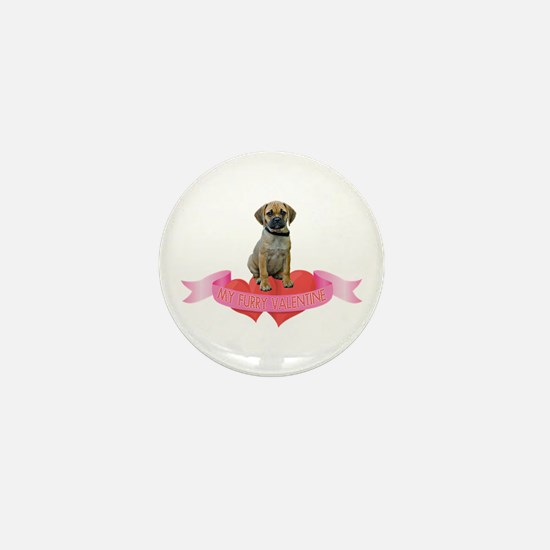 Puggle Valentine Mini Button