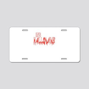 It's Hallowine Funny Wi Aluminum License Plate