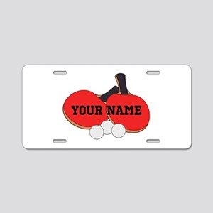 Personalized Table Tennis Ping Pong Aluminum Licen