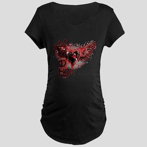 Geek bite Vampire Dog Maternity Dark T-Shirt