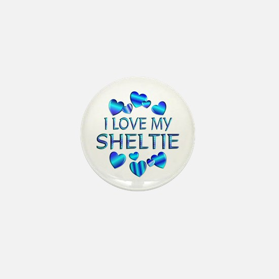 Sheltie Mini Button
