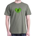Irish Shamrock Heart St. Patr Dark T-Shirt