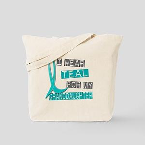 I Wear Teal For My Granddaughter 37 Tote Bag