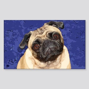 Chinese Pug Rectangle Sticker