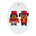 Drum and Beagle Oval Ornament