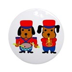 Drum and Beagle Ornament (Round)