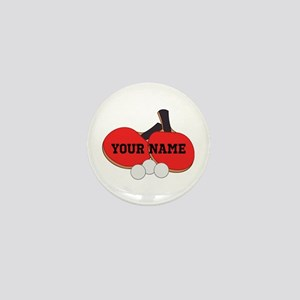 Personalized Table Tennis Ping Pong Mini Button
