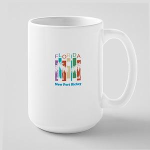 Retro New Port Richey Florida Palm Tree Souve Mugs
