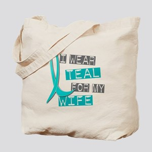 I Wear Teal For My Wife 37 Tote Bag