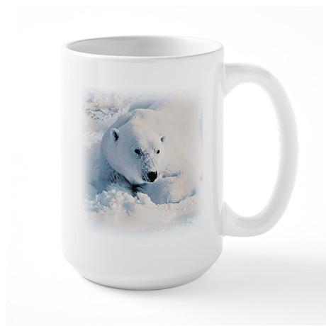 Polar Bear & Snow Large Mug