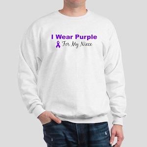I Wear Purple For My Niece Sweatshirt