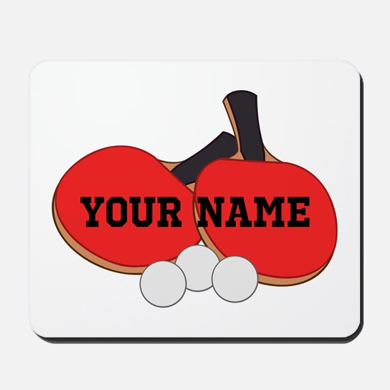 Personalized Table Tennis Ping Pong Mousepad