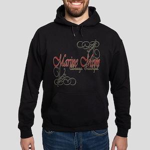 Swirl Marine Mom Hoodie (dark) Sweatshirt