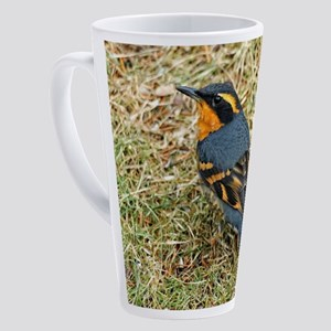 Varied Thrush in the Grass 17 oz Latte Mug