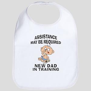 New Dad In Training Bib