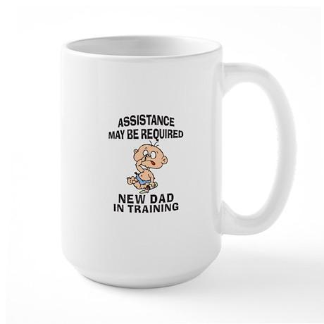 New Dad In Training Large Mug