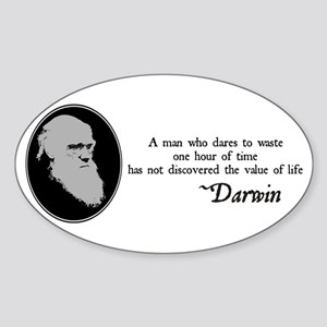 The Value of Life Oval Sticker