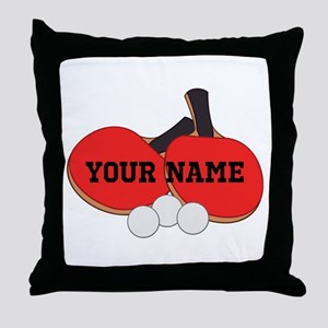 Personalized Table Tennis Ping Pong Throw Pillow