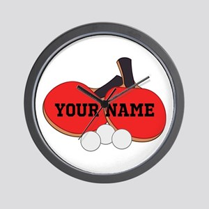 Personalized Table Tennis Ping Pong Wall Clock