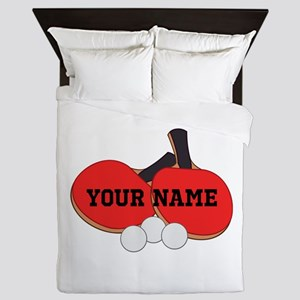 Personalized Table Tennis Ping Pong Queen Duvet