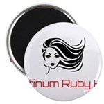 Platinum Ruby Hair Magnets