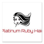 Platinum Ruby Hair Square Car Magnet 3