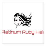 Platinum Ruby Hair Square Car Magnet 3