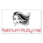 Platinum Ruby Hair Sticker