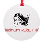 Platinum Ruby Hair Ornament