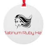 Platinum Ruby Hair Ornament