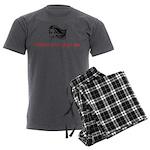 Platinum Ruby Hair Men's Charcoal Pajamas