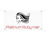 Platinum Ruby Hair Banner