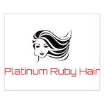 Platinum Ruby Hair Posters