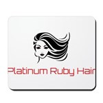 Platinum Ruby Hair Mousepad