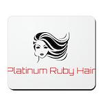 Platinum Ruby Hair Mousepad