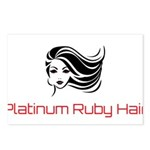 Platinum Ruby Hair Postcards (Package of 8)