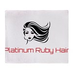Platinum Ruby Hair Throw Blanket