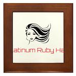 Platinum Ruby Hair Framed Tile