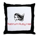 Platinum Ruby Hair Throw Pillow