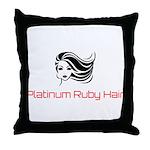 Platinum Ruby Hair Throw Pillow